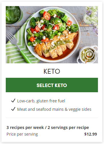 Keto meal plan from Green Chef