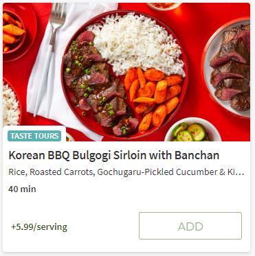 Koreaan BBQ Bulgolgi from Hello Fresh
