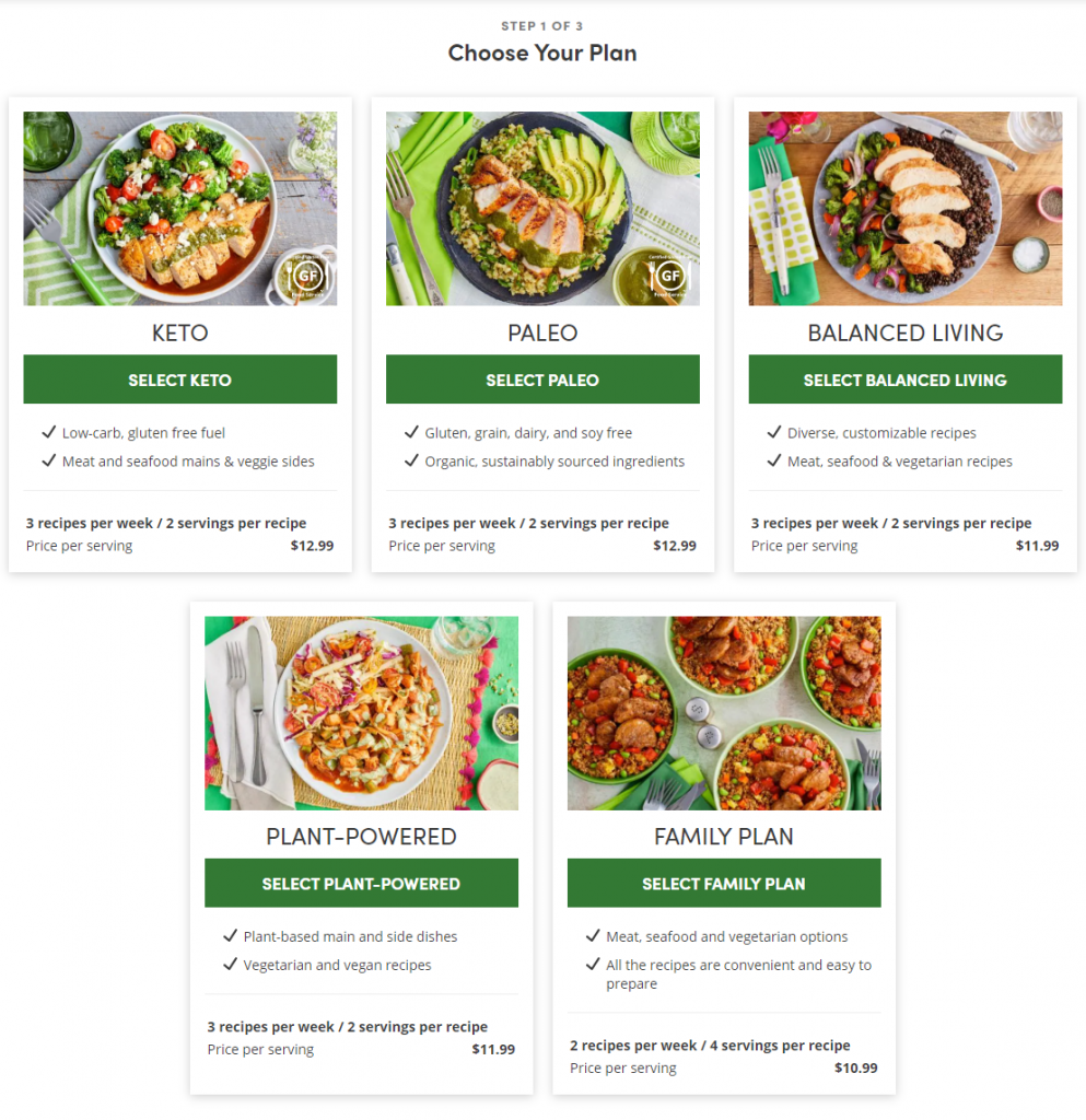 Meal Plans at Green Chef