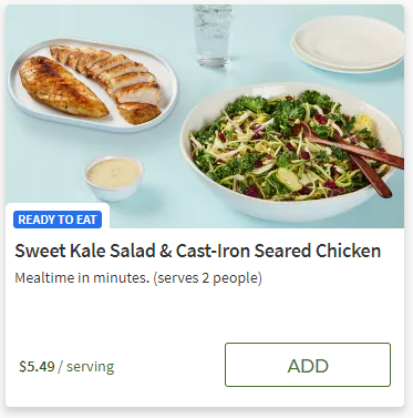 Sweet Kale Salad and Cast-Iron Seared Chicken from Hello Fresh